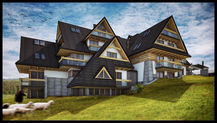APP ARCHITEKCI, Hotel Kopieniec**** Fizjo-Med & SPA, Murzasichle, Polska
