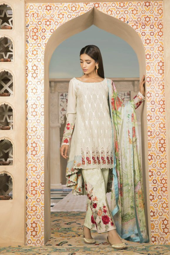 ef86f09869 Sapphire Latest Eid Lawn Collection 2018-2019 Luxury Prints & Designs