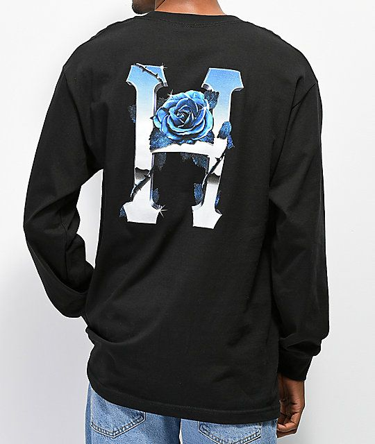 333f61920cd HUF Ice Rose Black Long Sleeve T-Shirt in 2019