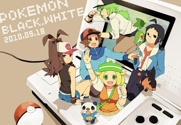 pokemon poke balls bianca hilda tepig oshawott snivy nintendo ds n pokemon trainer cheren hilbert _wallpaperswa.com_62.jpg (600×414)