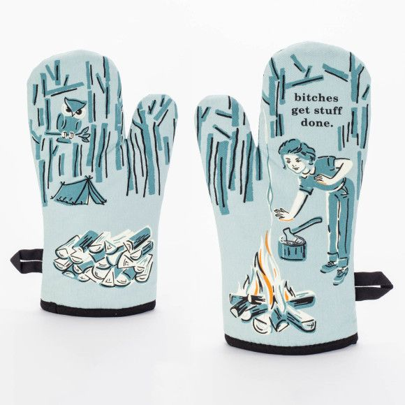B Tches Get Stuff Done Quirky Oven Mitt By Blue Q In 2020