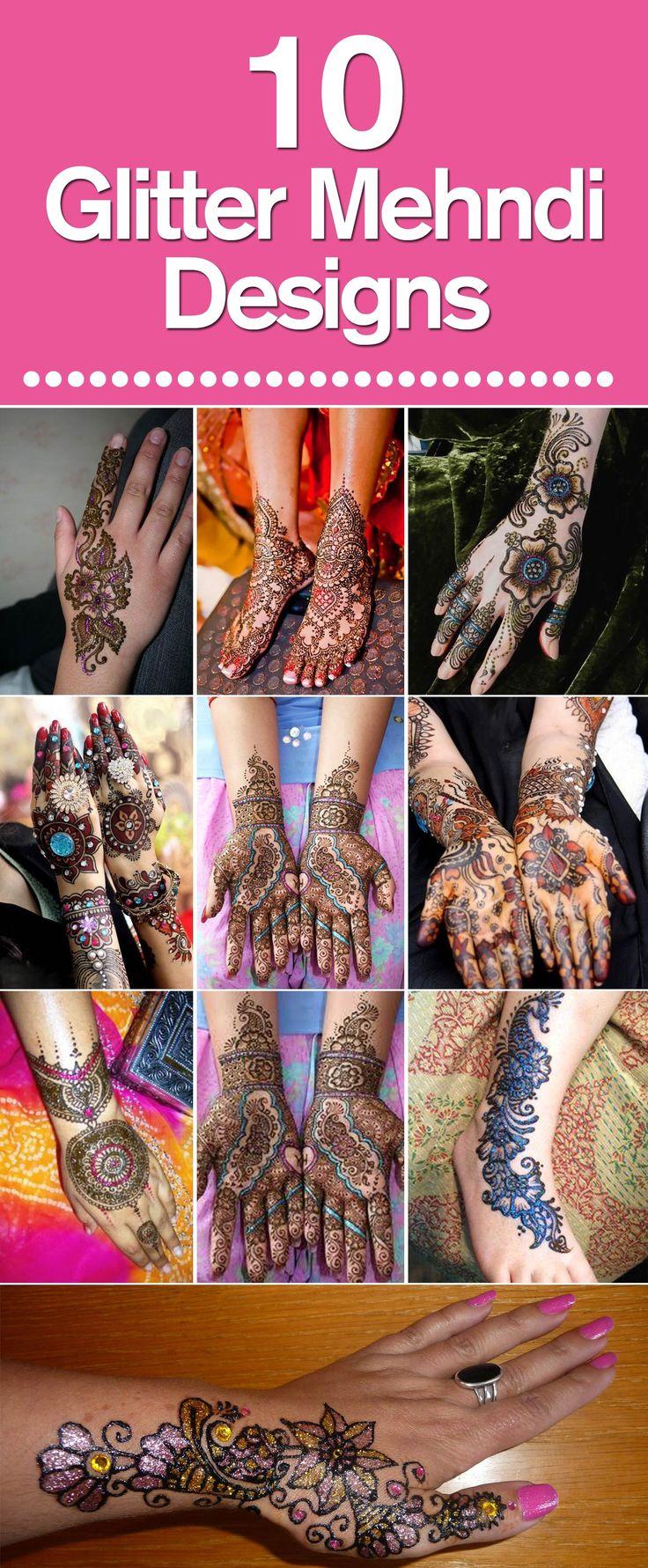 Top 10 beautiful arabic mehndi design art - Best Glitter Mehndi Designs Our Top 10