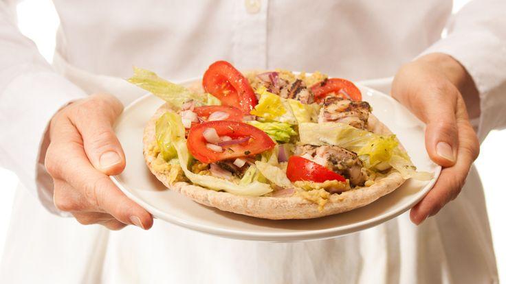 Grilled Chicken and Tzatziki Wraps