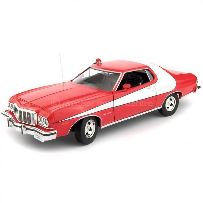 ford gran torino 1974 red starsky hutch 1 18 greenlight diecast model car cars. Black Bedroom Furniture Sets. Home Design Ideas