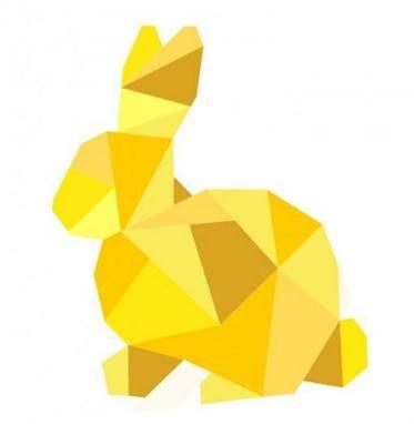 Geometric Bunny Paper Pieced Pattern