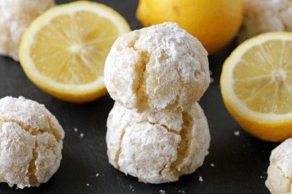 Lemon Crackle Cookies  Donna Hay uses:  1/4 tsp bicarb, 1 tsp lemon rind,  1 tsp lemon rind, t tbs lemon juice