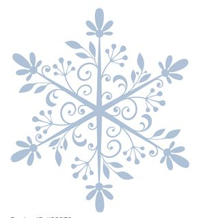 swirly snowflake by hero arts #23272