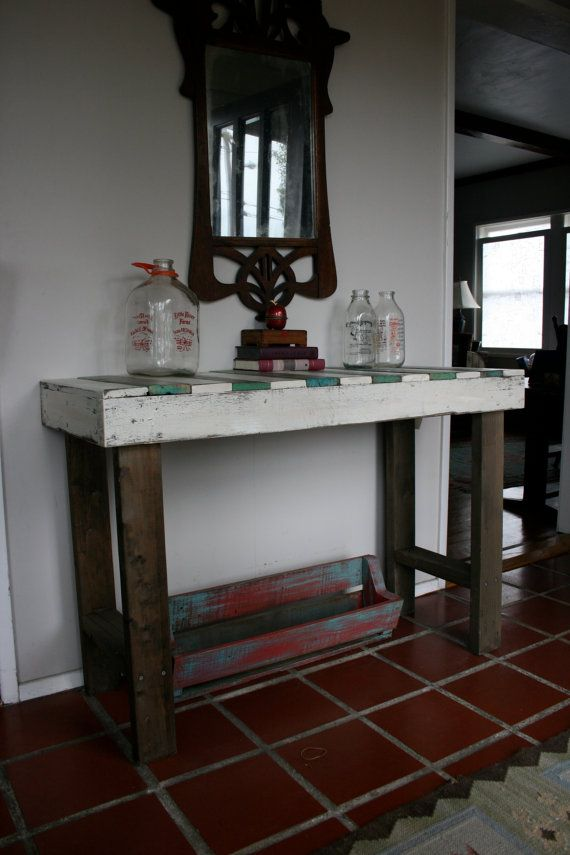 Upcycled pallet table by AmericanElf on Etsy, $200.00