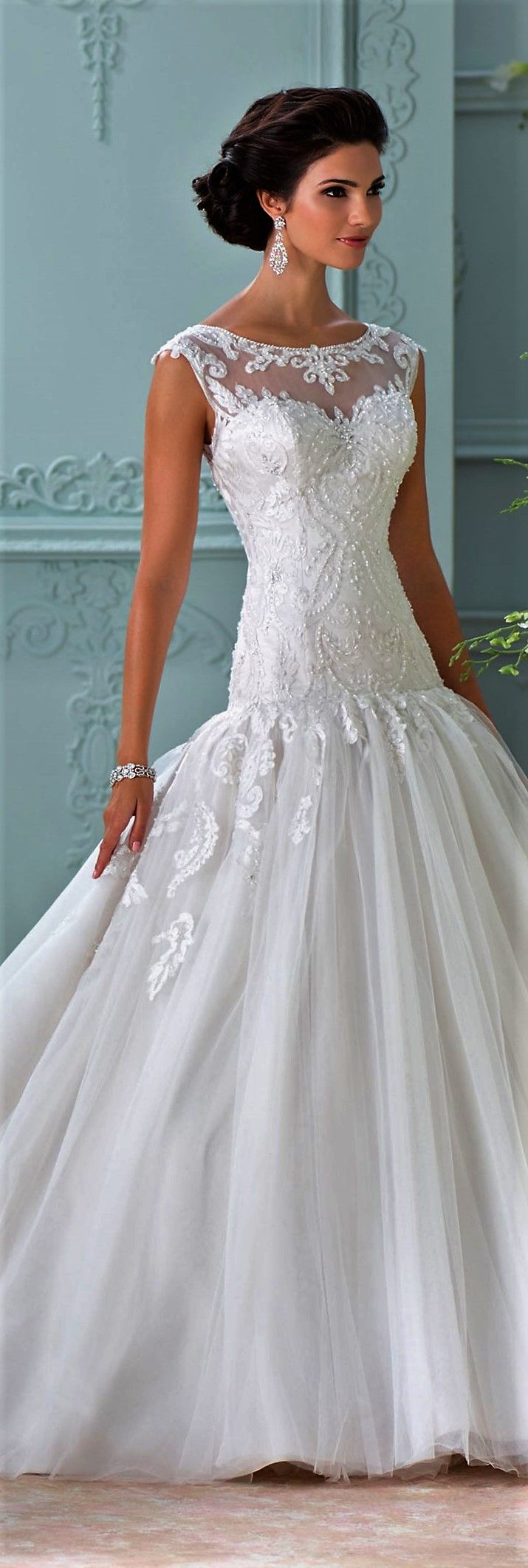74 best Mermaid Wedding Gowns images on Pinterest | Wedding frocks ...