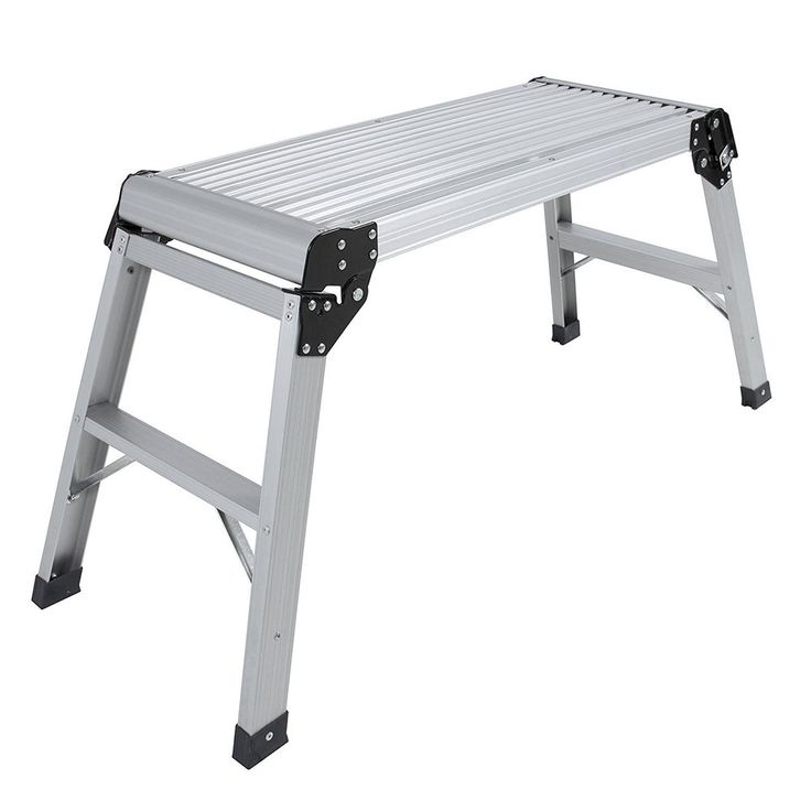 330 lb. Folding Work Bench Aluminum Step Up Platform Multi Purpose Ladder  #BestChoice