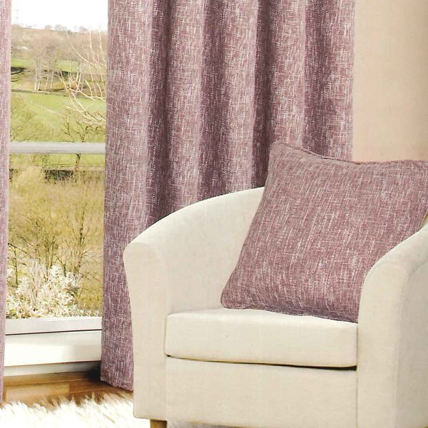 The Havana Heather Cushion Cover is a beautiful tone of kissed pink with white speckled detail. The cover is stylish and practical with a comfortable soft texture material that will compliment both traditional and contemporary decorated living space. The cushion cover is priced at £7, with the option of matching eyelet curtains also available.