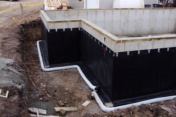 Waterproofing foundation walls building design construction systems pinterest foundation Exterior basement waterproofing