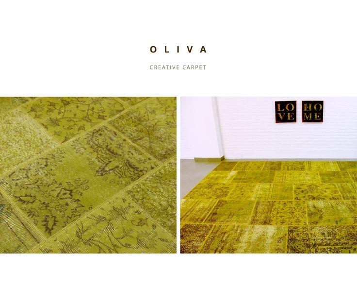 ALFOMBRA PATCHWORK 15RE OLIVA