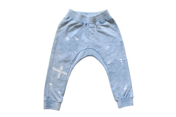Splat Jean Trackies Blue Acid Wash