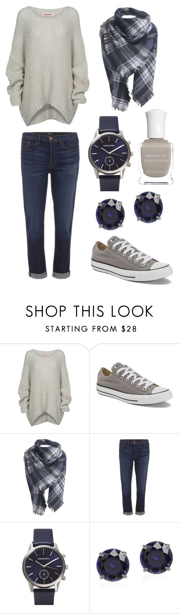"""Blue Grey"" by alphashe on Polyvore featuring Bodhi, Converse, J Brand and Deborah Lippmann"