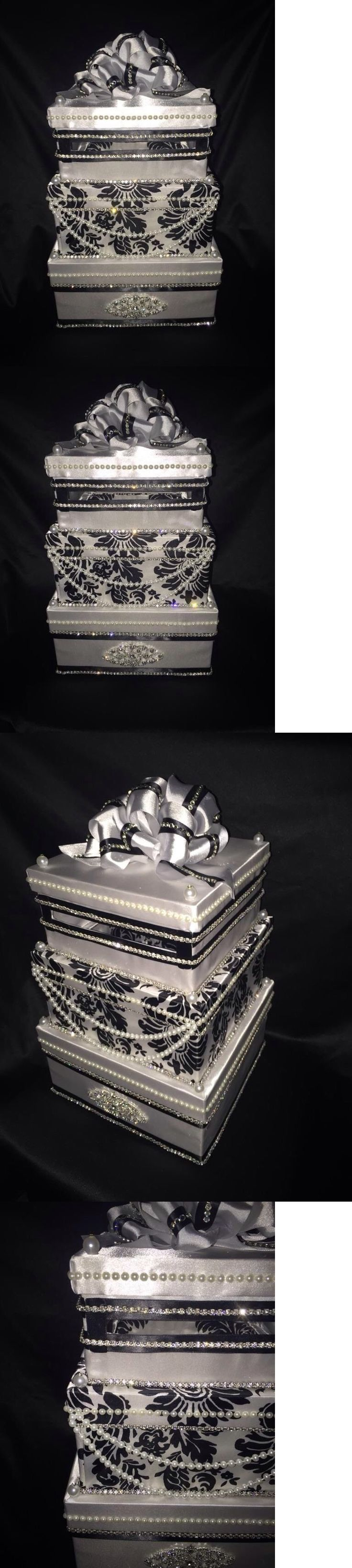 Card Boxes and Wishing Wells 168189: Wedding Money Box Card Box Money Gift Box Wedding Box Black And White -> BUY IT NOW ONLY: $159 on eBay!