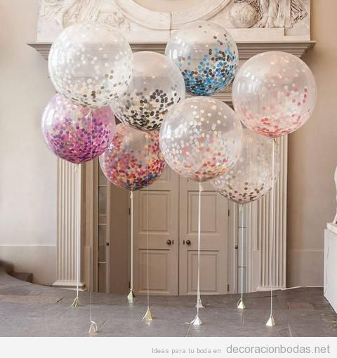 Globos helio decorar altar de bodas