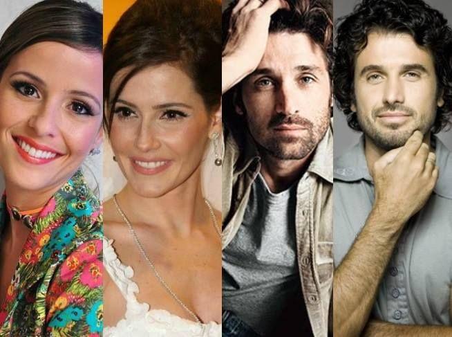 Fernanda Freitas e Déborah Secco// Patrick Dempsey e Eriberto Leão