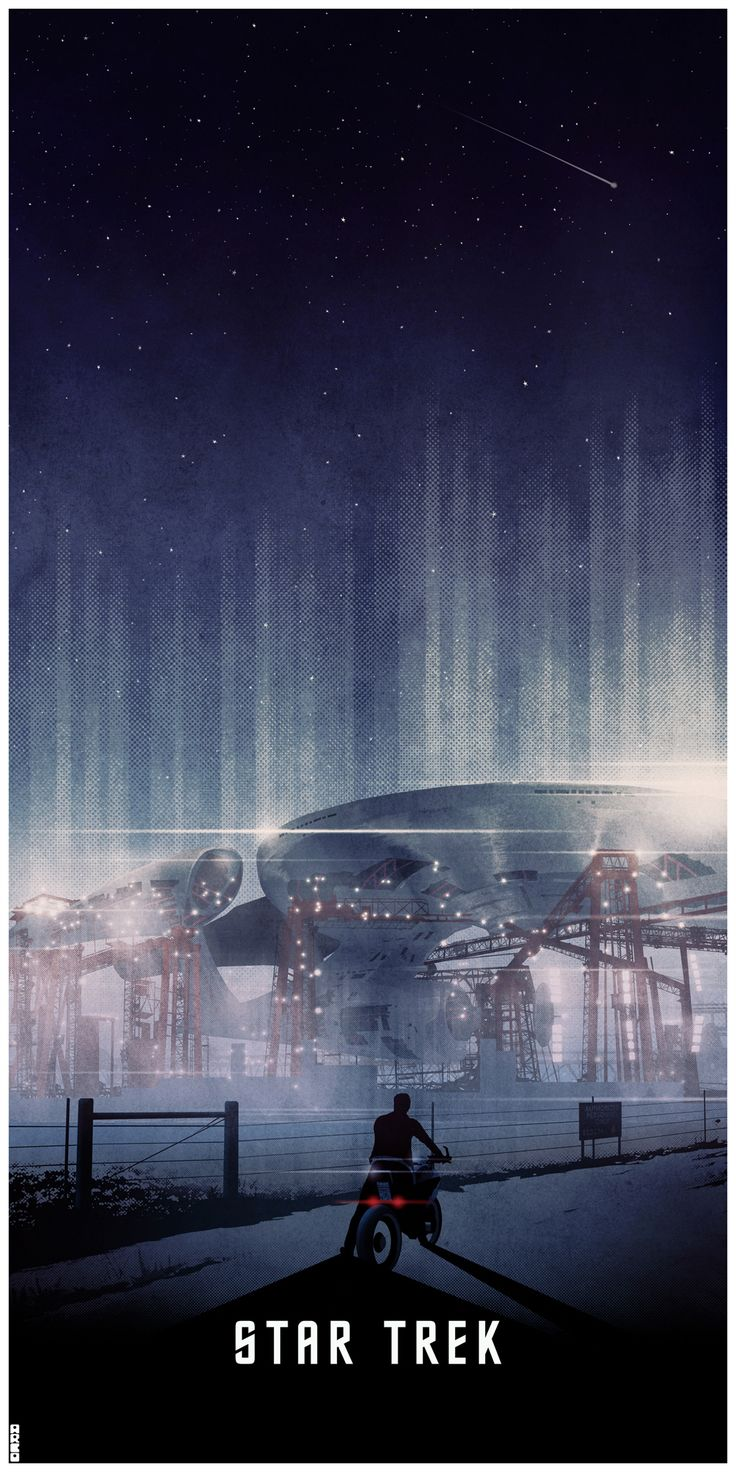 Great Star Trek 2009 poster.  Love the scale and length. By Matt Ferguson (Cakes-and-Comics.deviantart.com)