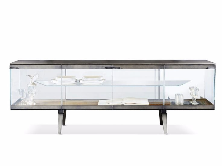 Store away your extra dinnerware and continue to show it off with the  stunning Pandora Light Sideboard by Gallotti & Radice from Casarredo! - 25+ Best Glass Sideboard Ideas On Pinterest Dining Room Buffet