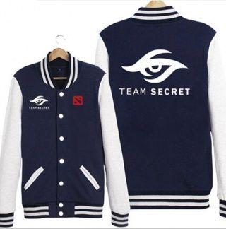DOTA 2 equipe camisola segredo para os homens mais jaquetas de baseball tamanho