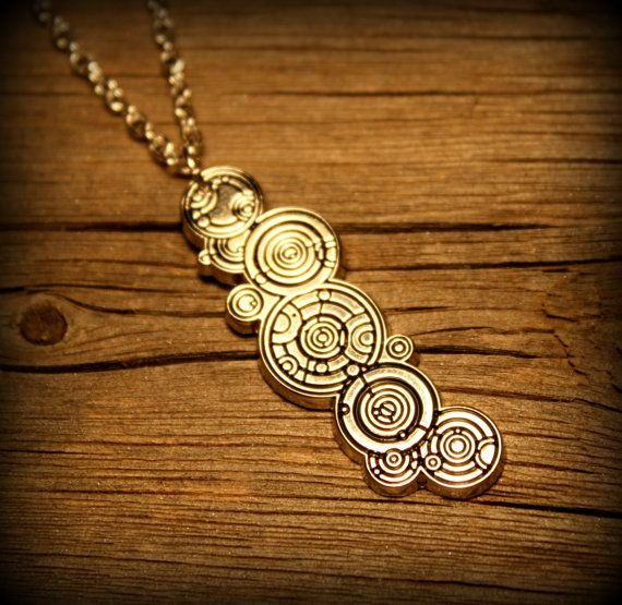 The Doctors Name Gallifreyan Necklace or Pin by Christalinasales