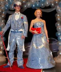 Duct tape prom dress and tux, file under Making Stuff or Nerdology? Nerd trumps craft I think...  For you,  your date and/or friends:  For $40.00 off your Mens Wearhouse tuxedo rental use *** Promo code 4428508 Tell them Prom rep' Jordan sent you.  Code expires: June 30, 2013.  $20 reserves your tux and includes a professional fitting by a store associate.  *hurry in to reserve your tux.