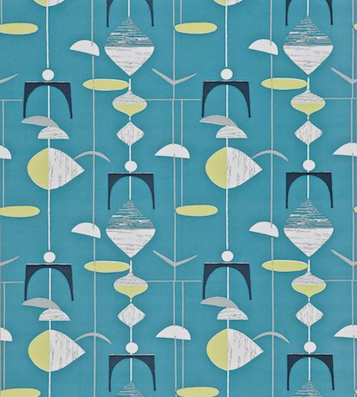 1950s wallpaper. I love these 1950s designs.