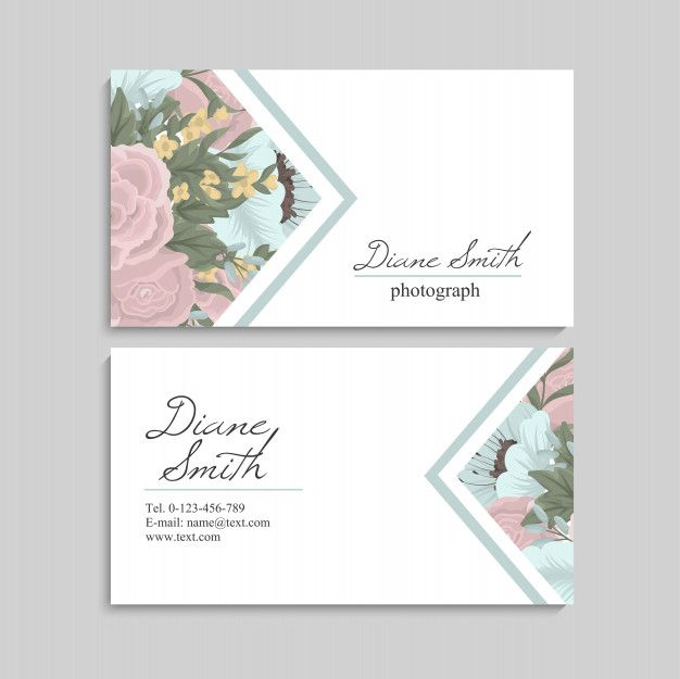 Download Floral Style Business Card Template Vector For Free Floral Business Cards Visiting Card Design Event Poster Template