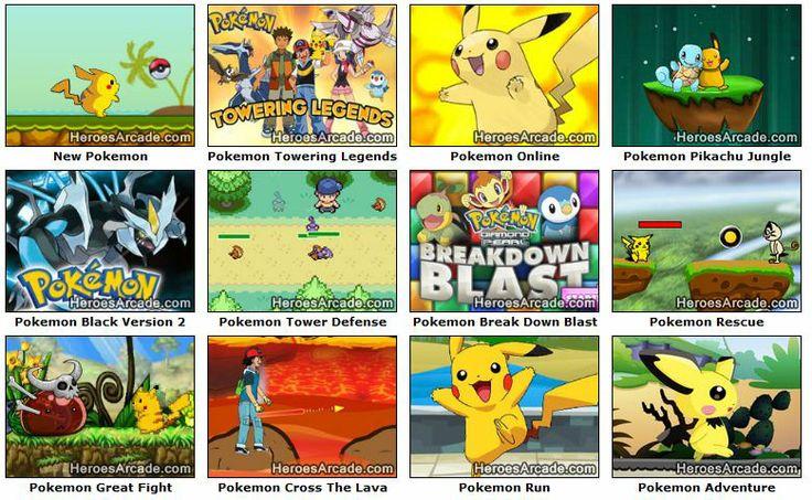 Play Pokemon Games online at HeroesArcade.com