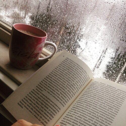 Rain books and coffee...