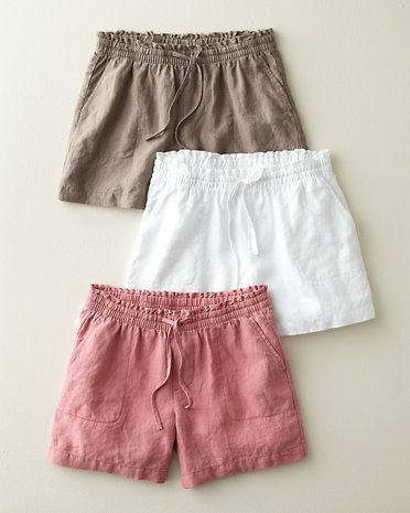 Weekend Linen Shorts, all they need are a well worn button down shirt and favorite sandals.