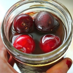 Bourbon Soaked Cherries; as per Jeannie Guzman, When cherries are soaked in Bourbon, the resulting liqueur is like the famous Swedish liqueur called Kirsch, which is indescribably delicious, as well as indescribably expensive. I'm so making these!