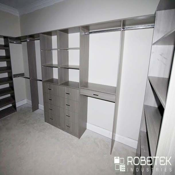 Apart from ordinary wardrobe design, RobeTek Industries offers a wide  variety of storage services and