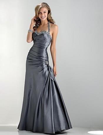Купить атласное вечернее платье