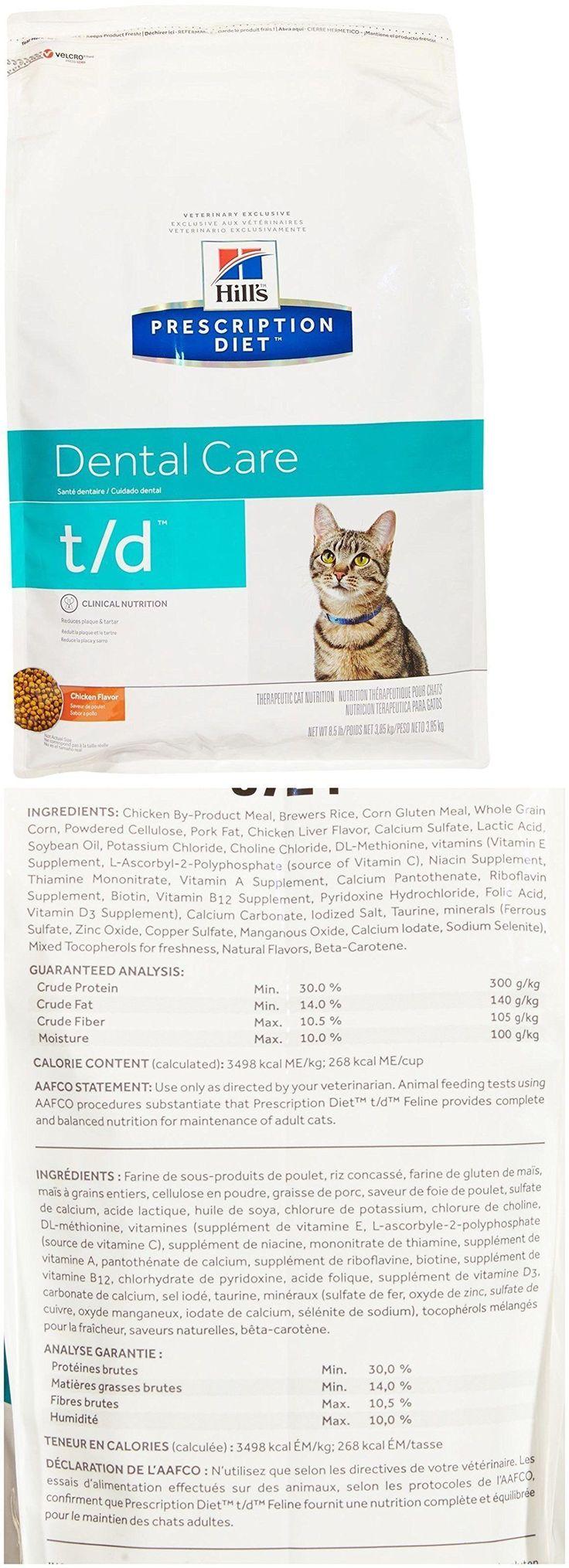 Cat Food 63073: Hills Prescription Diet T D Feline Dental Health - 8.5Lb -> BUY IT NOW ONLY: $79.95 on eBay!