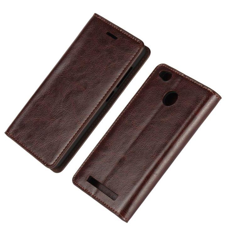 Xiaomi Redmi 3 Pro Case Luxury Genuine Crazy Horse Leather Flip Cover Original Mobile Phone Cases For Fundas Xiaomi Redmi 3s