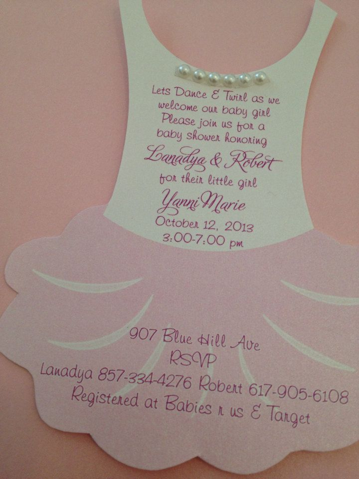 New to anaderoux on Etsy: Tutu Baby shower invitation flat - Ballerina baby shower invitation (2.25 USD)