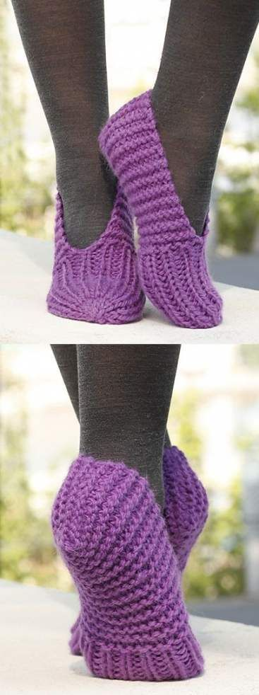 32+ Ideas Knitting Patterns For Beginners Slippers For ...