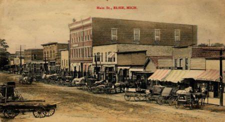 Main Street in Elsie, Clinton County, Michigan