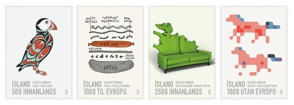 Icelandic Hot Dog Stamp on Behance