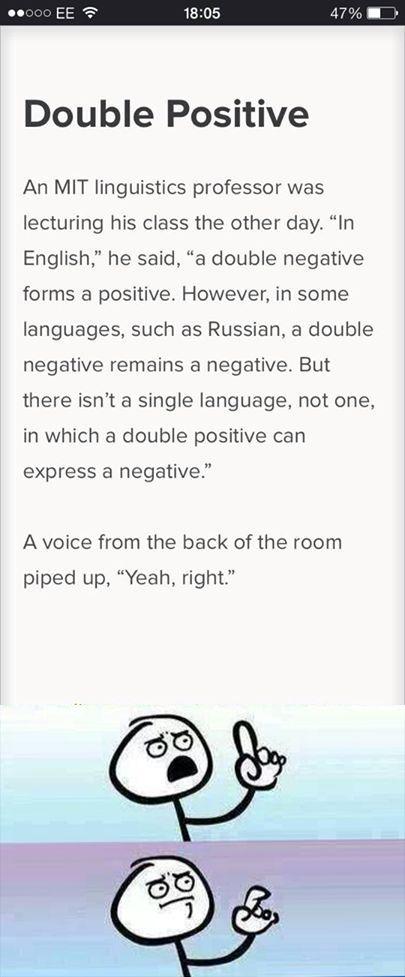 I love the English language.