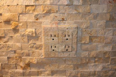 Outlet Amp Switch Covers To Match Kitchen Backsplash Tile