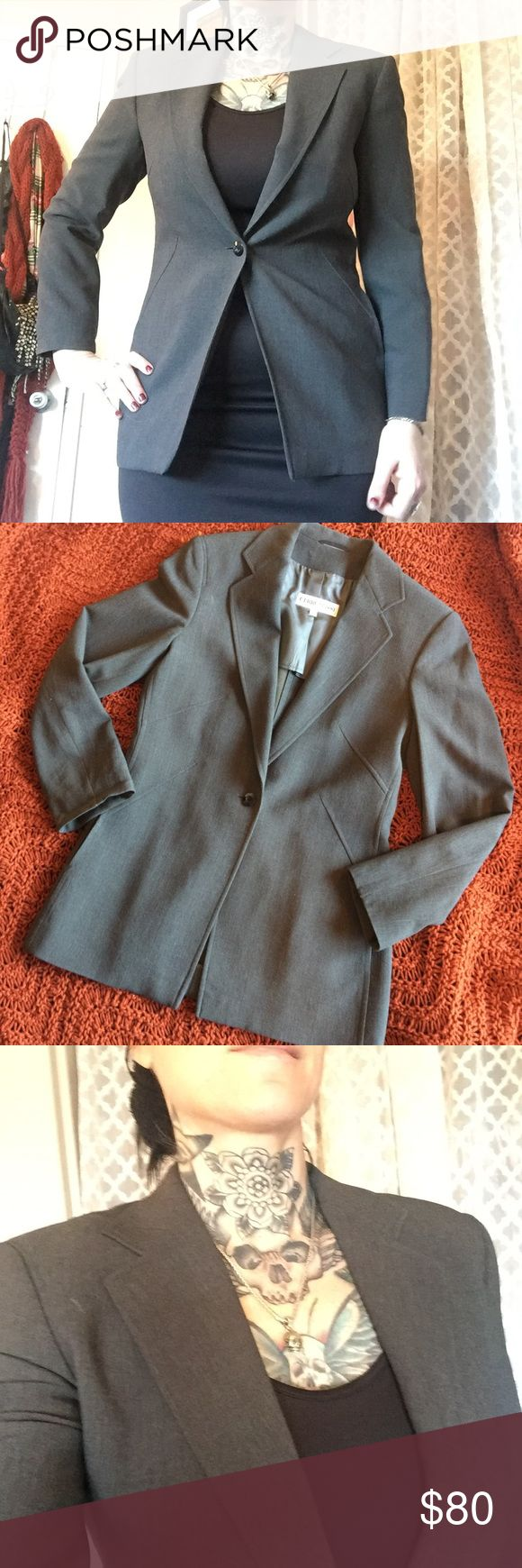 Italian designer office blazer Used only twice. Beautiful condition. I'm a size 8 but busty so best fits as an 8 but smaller bustline. Authentic. Cerruti cerruti 1881 Jackets & Coats Blazers