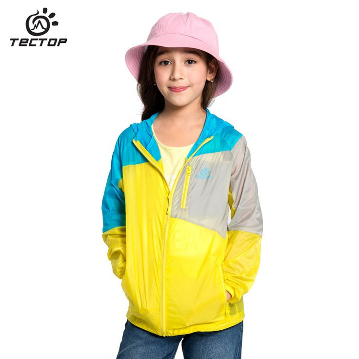 Kids Waterproof Jacket Hooded Windbreaker Boy Girl Trench Coat Prevent Bask Clothes Quick-Dry Outerwear Uv Protection Dust Coat