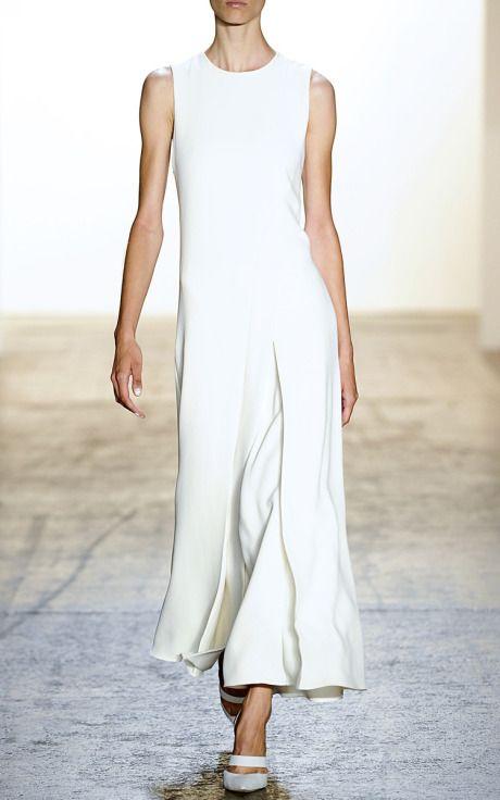 New York Fashion Week, preorder Wes Gordon Spring 2015 Runway Trunkshow Look 29 - Curved Pleat Long Dress