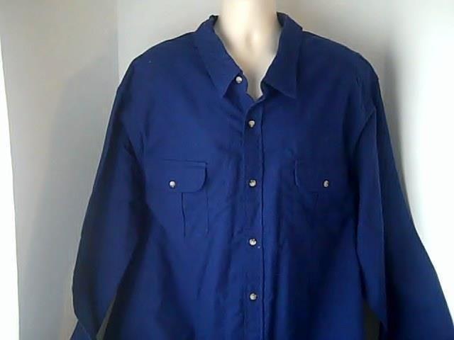 King Size Mens 4 XL Blue Chamois Shirt  100% Cotton #KingSize #ButtonFront