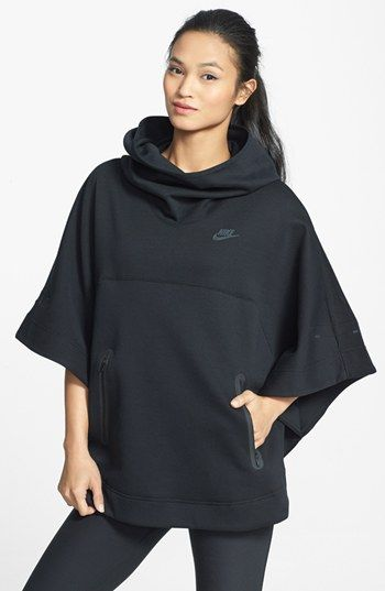 Nike 'Tech' Fleece Hooded Poncho available at #Nordstrom