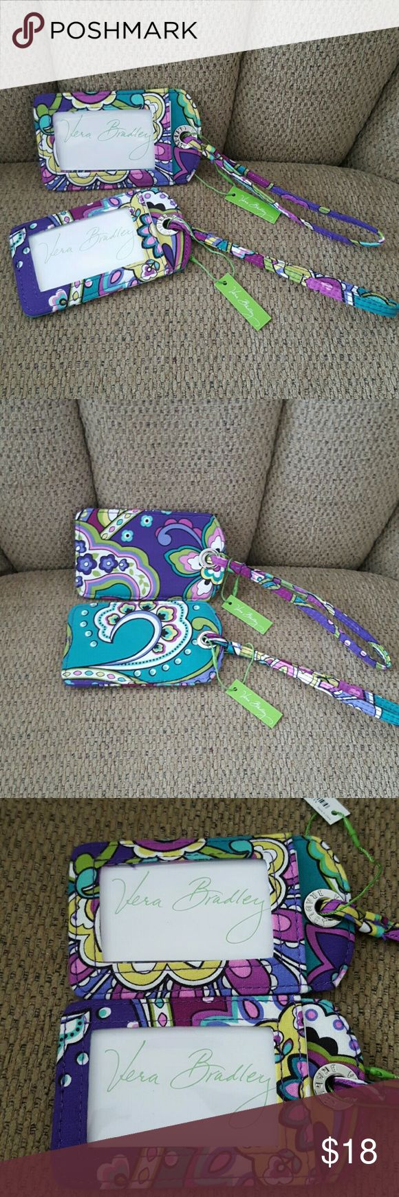 2 VERA BRADLEY LUGGAGE TAGS New with tags   IN  HEATHER pattern Vera Bradley Accessories