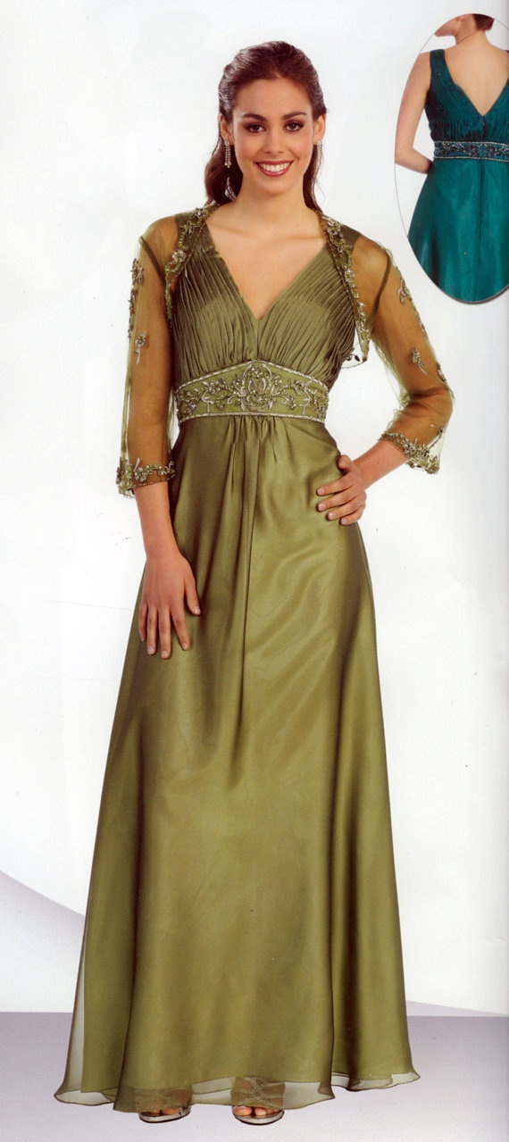 Long Formal Special Occasion Dress Sheer by CelestialDresses, $149.00